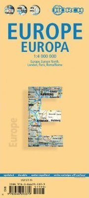 EUROPA mapa samochodowa laminowana 1:4 000 000 BORCH 2013