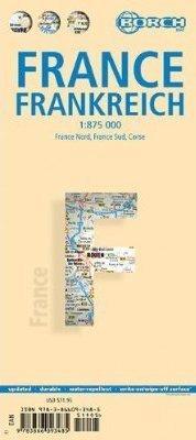 FRANCJA mapa samochodowa laminowana 1:875 000 BORCH 2013