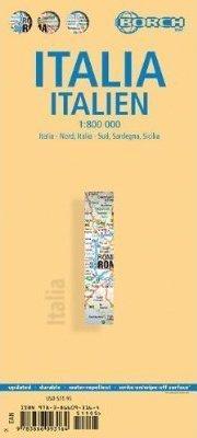 WŁOCHY mapa samochodowa laminowana 1:800 000 BORCH