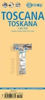 TOSKANIA mapa samochodowa laminowana 1:400 000 BORCH