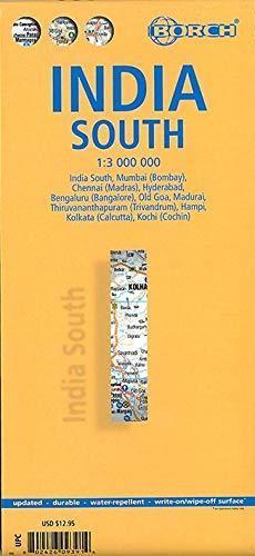 INDIE POŁUDNIOWE mapa samochodowa laminowana 1:3 000 000 BORCH