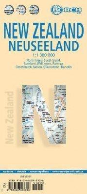 NOWA ZELANDIA mapa samochodowa laminowana 1:1 300 000 BORCH