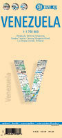 WENEZUELA mapa samochodowa laminowana 1:1 750 000 BORCH
