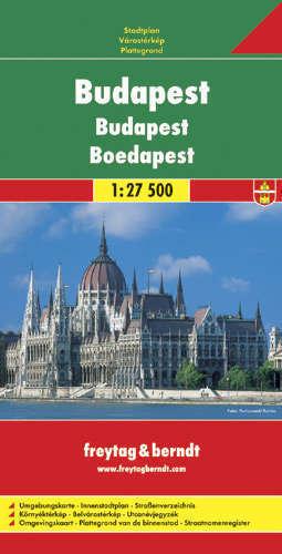 BUDAPESZT plan miasta 1:27 500 FREYTAG & BERNDT