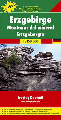 ERZGEBIRGE RUDAWY mapa samochodowa 1:150 000 FREYTAG & BERNDT