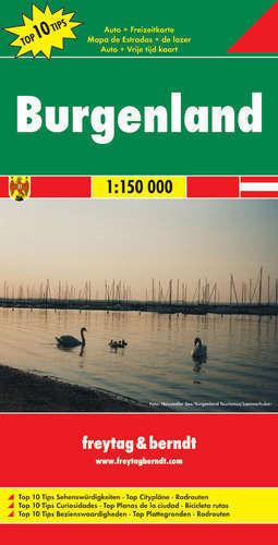BURGENLAND (AUSTRIA) mapa samochodowa 1:150 000 FREYTAG & BERNDT TOP 10 TIPS