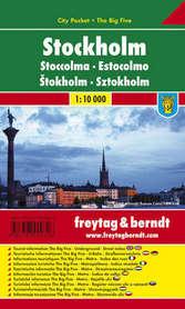 SZTOKHOLM plan miasta laminowany 1:10 000 FREYTAG & BERNDT