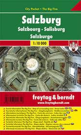 SALZBURG plan miasta laminowany 1:10 000 FREYTAG & BERNDT
