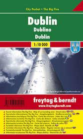 DUBLIN plan miasta laminowany 1:10 000 FREYTAG & BERNDT