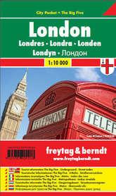 LONDYN plan miasta laminowany 1:10 000 FREYTAG & BERNDT