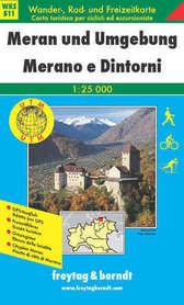 MERANO I OKOLICE mapa turystyczna 1:25 000 FREYTAG & BERNDT