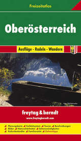 GÓRNA AUSTRIA atlas z przewodnikiem 1:50 000-1:200 000 FREYTAG & BERNDT
