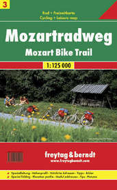 MOZART - MOZARTRADWEG mapa rowerowa 1:125 000 FREYTAG & BERNDT