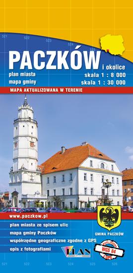 PACZKÓW I OKOLICE mapa turystyczna 1:30 000 PLAN