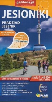 JESIONIKI Pradziad Jesenik mapa turystyczna wodoodporna 1:40 000 PLAN 2019