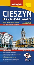 CIESZYN I OKOLICE mapa turystyczna 1:25 000 STUDIO PLAN