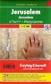 JEROZOLIMA plan miasta laminowany 1:12 500 FREYTAG & BERNDT