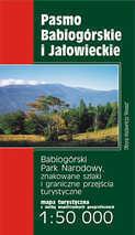 PASMO BABIOGÓRSKIE I JAŁOWIECKIE mapa turystyczna REWASZ