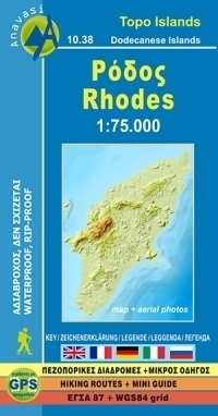 RODOS mapa turystyczna 1:75 000 ANAVASI GRECJA