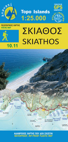 SKIATHOS mapa turystyczna 1:25 000 ANAVASI