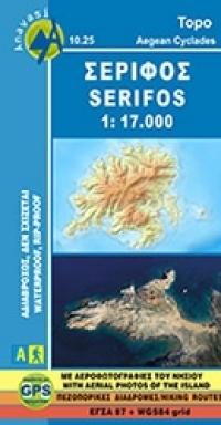 SERIFOS mapa turystyczna 1:17 000 ANAVASI GRECJA