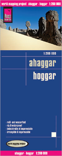 AHAGGAR HOGGAR mapa 1:200 000 REISE KNOW HOW