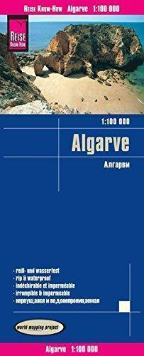 ALGARVE mapa 1:100 000 REISE KNOW HOW 2019