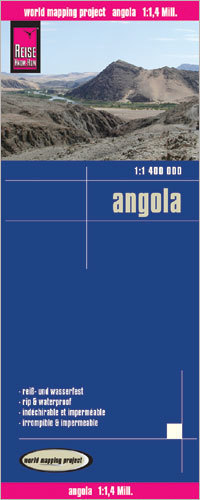 ANGOLA mapa 1:1 400 000 REISE KNOW HOW 2016
