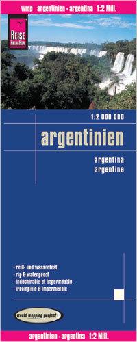 ARGENTYNA mapa wodoodporna 1:2 000 000 REISE KNOW HOW