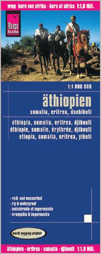 ETIOPIA SOMALIA ERYTREA DŻIBUTI mapa 1:1 800 000 REISE KNOW HOW 2015