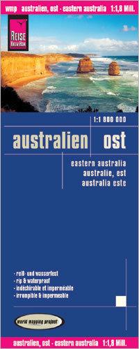AUSTRALIA WSCHODNIA mapa 1:1 800 000 REISE KNOW HOW