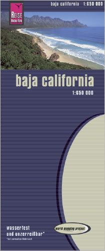 DOLNA KALIFORNIA Baja California mapa 1:650 000 REISE KNOW HOW