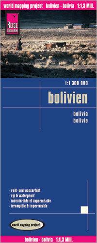 BOLIWIA mapa wodoodporna  1:1 300 000 REISE KNOW HOW 2016