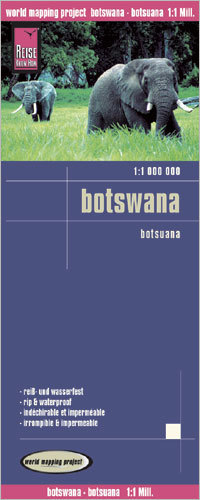 BOTSWANA mapa 1:1 000 000 REISE KNOW HOW