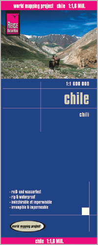 CHILE mapa 1:1 600 000 REISE KNOW HOW wodoodporna 2016