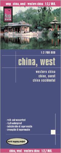 CHINY ZACHODNIE mapa 1:2 700 000 REISE KNOW HOW