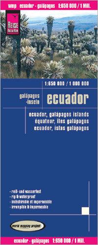 EKWADOR I GALAPAGOS mapa w skali 1:1:650 000 / 1: 1 000 000 wodoodporna REISE KNOW HOW 2016