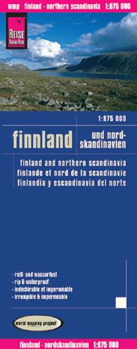 FINLANDIA I PÓŁNOCNA SKANDYNAWIA mapa 1:875 000 REISE KNOW HOW