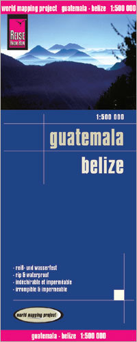 GWATEMALA I BELIZE mapa 1:500 000 REISE KNOW HOW