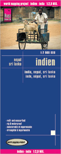 INDIE NEPAL SRI LANKA mapa 1:2 900 000 REISE KNOW HOW