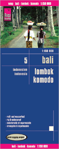 INDONEZJA CZ. 5 - BALI LOMBOK KOMODO mapa 1:150 000 REISE KNOW HOW 2016
