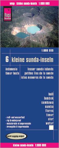 INDONEZJA CZ. 6 - MAŁE WYSPY SUNDAJSKIE mapa 1:800 000 REISE KNOW HOW Bali, Lombok, Sumbawa, Sumba, Flores, Timor, Alor, Wetar
