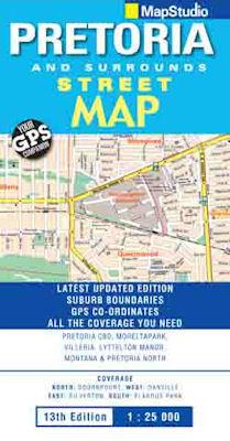PRETORIA plan miasta 1:25 000 MAPSTUDIO