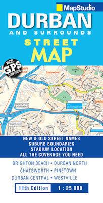 DURBAN plan miasta 1:25 000 MAPSTUDIO