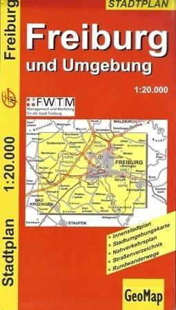 FREIBURG I OKOLICE plan miasta 1:20 000 GEOMAP