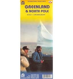 GRENLANDIA I BIEGUN PÓŁNOCNY mapa 1:3 000 000 / 1:9 000 000 ITMB