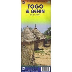 BENIN TOGO mapa 1:580 000 ITMB