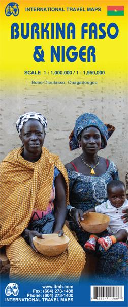 BURKINA FASO NIGER mapa 1:1 000 000 / 1:1 950 000 ITMB