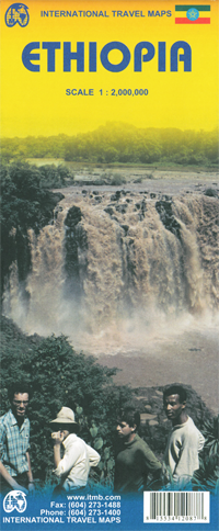 ETIOPIA mapa 1:2 000 000 ITMB