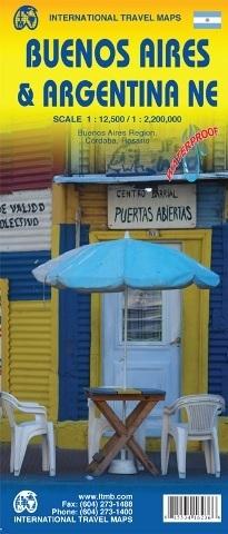 BUENOS AIRES plan miasta 1:12 500 ARGENTYNA PÓŁNOCNA mapa wodoodporna 1:2 200 000 ITMB